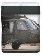 A Uh-60 Black Hawk Taxis Duvet Cover