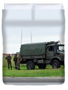 A Unimog Vehicle Of The Belgian Army Duvet Cover