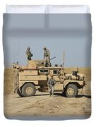 A U.s. Army Cougar Mrap Vehicle Duvet Cover