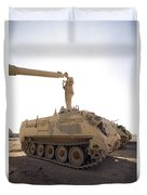 A Us Army Mechanic Uses A M113 Duvet Cover