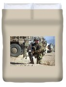 A U.s. Army Soldier Provides Security Duvet Cover