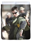 A U.s. Marine Gets Suited Duvet Cover