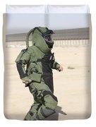 A U.s. Marine Tries Running In A Bomb Duvet Cover