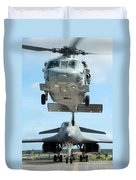 A U.s. Navy Mh-60s Seahawk Helicopter Duvet Cover