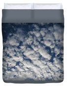 A View Of A Cloud-filled Sky Over Miami Duvet Cover