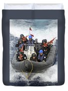 A Visit, Board, Search And Seizure Team Duvet Cover