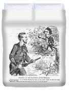 Abraham Lincoln Cartoon Duvet Cover