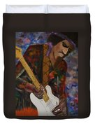 Abstract Jimi Hendrix Duvet Cover