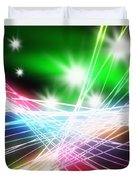 Abstract Of Stage Concert Lighting Duvet Cover