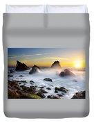 Adraga Beach Duvet Cover