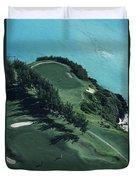 Aerial Of A Golf Course In Bermuda Duvet Cover