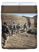 Afghan National Army And U.s. Soldiers Duvet Cover