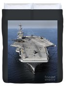 Aircraft Carrier Uss Carl Vinson Duvet Cover