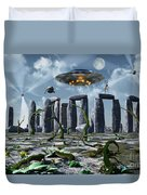 Alien Interdimensional Beings Recharge Duvet Cover
