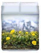 Alpine Meadow In Jasper National Park Duvet Cover by Elena Elisseeva