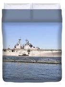 Amphibious Assault Ship Uss Wasp Duvet Cover