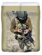 An Afghan National Army Soldier Duvet Cover