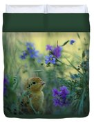 An Attwaters Prairie Chick Surrounded Duvet Cover