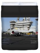An Ea-6b Prowler Makes An Arrested Duvet Cover