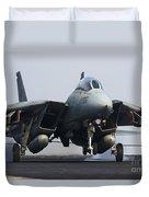 An F-14d Tomcat Makes An Arrested Duvet Cover