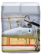 An F-15c Eagle Baz Aircraft Duvet Cover