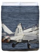 An Fa-18c Hornet Taking Duvet Cover