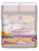 An Incoming Storm Duvet Cover by Henri-Edmond Cross