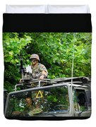 An Infantry Soldier Of The Belgian Army Duvet Cover