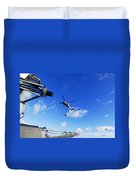 An Mh-60s Sea Hawk Helicopter Duvet Cover