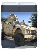 An Oshkosh M-atv Mine Resistant Ambush Duvet Cover