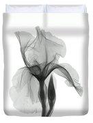 An X-ray Of An Iris Flower Duvet Cover