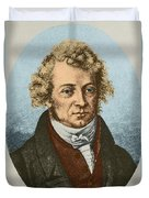 Andre Marie Amp�re, French Physicist Duvet Cover
