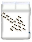 Ants, Forming An Arrow Duvet Cover