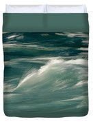 Aqua Blue Waves Duvet Cover
