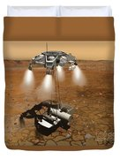 Artists Concept Of An Ascent Vehicle Duvet Cover