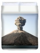 Ash Cloud From Vulcanian Eruption Duvet Cover