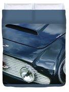 Aston Martin 1963 Aston Martin Db4 Series V Vintage Gt Grille Emblem -0140c Duvet Cover