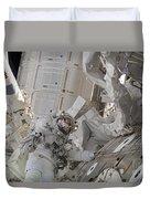 Astronaut Participates In A Session Duvet Cover