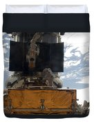 Astronauts Working On The Hubble Space Duvet Cover