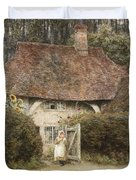At The Cottage Gate Duvet Cover