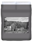 Autumn Farm Monochrome Duvet Cover by Steve Harrington
