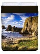 Ballintoy, County Antrim, Ireland Beach Duvet Cover