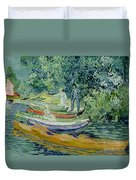 Bank Of The Oise At Auvers Duvet Cover