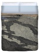 Basaltic Lava Flow From Pit Crater Duvet Cover
