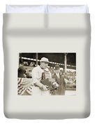 Baseball: Camera, C1911 Duvet Cover