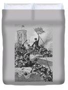 Battle Of Chapultepec, 1847 Duvet Cover