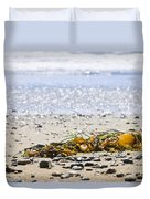 Beach Detail On Pacific Ocean Coast Duvet Cover by Elena Elisseeva