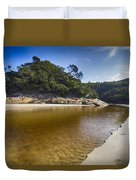 Beach Erosion Duvet Cover