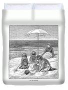 Beach Scene, 1879 Duvet Cover
