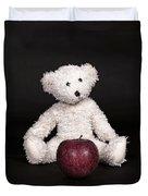 Bear And Apple Duvet Cover